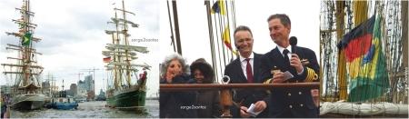 NVe Cisne Branco empfängt neben der Alexander von Humboldt